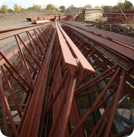 45 Foot Long Steel Truss Gagnon Demolition