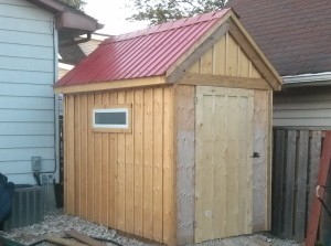 Re-purposed shed